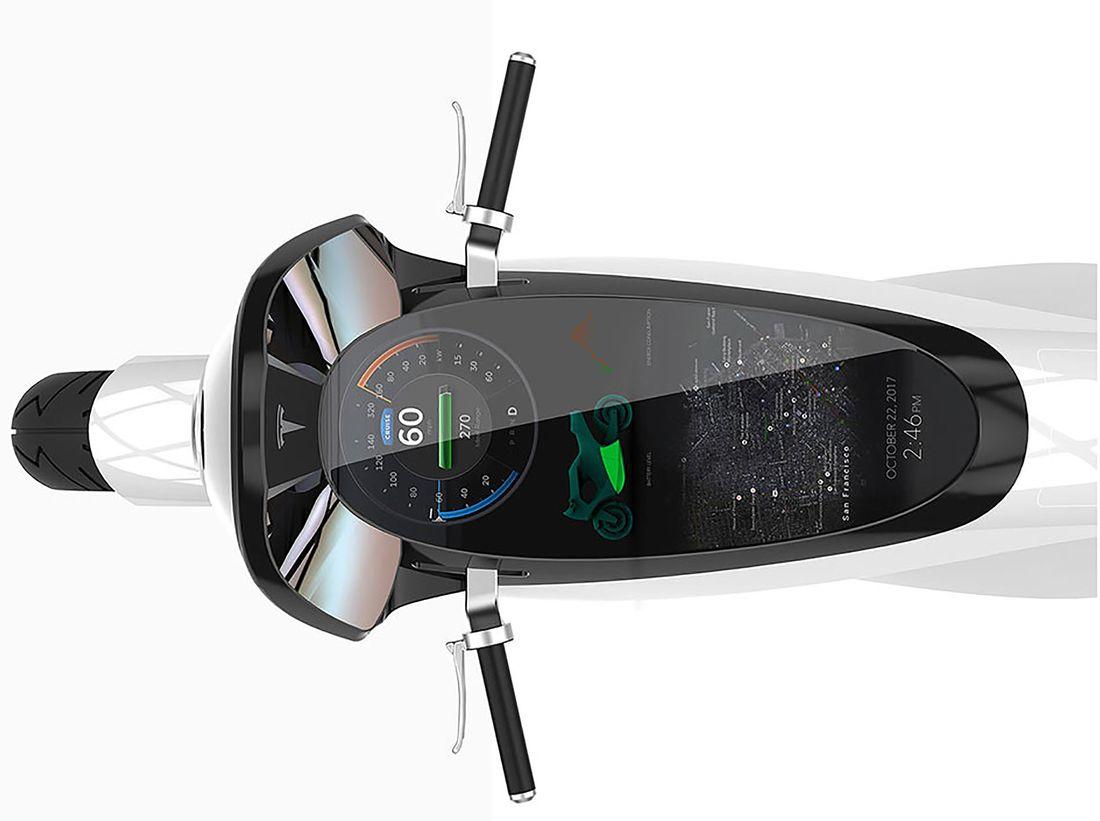Tesla Modem M, la moto intelligente.