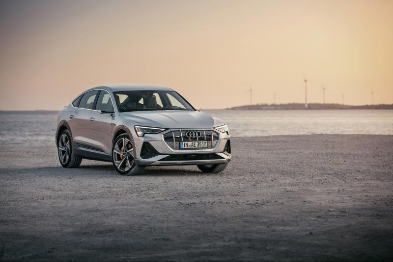 La nuova Audi E-tron Sportback, il secondo modello elettrico della casa tedesca