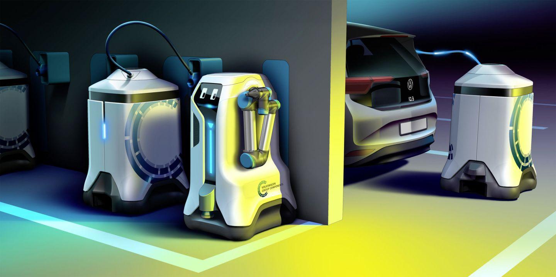 Il sogno Volkswagen: creare un robot che carica le auto elettriche nei parcheggi