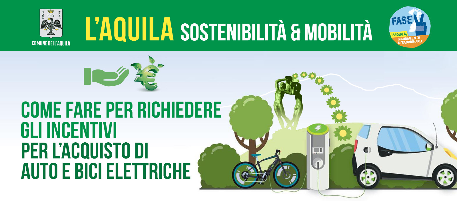 Continuano i contributi comunali per l'acquisto di auto elettriche a l'Aquila